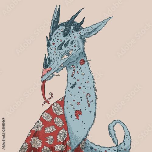 Obraz na plátně Candy dragon