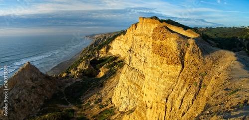 Fotografie, Obraz  Coastal cliff at sunset , San Diego, California