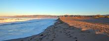 Ventura Beach With Tidal Erosion On The Gold Coast Of California United States