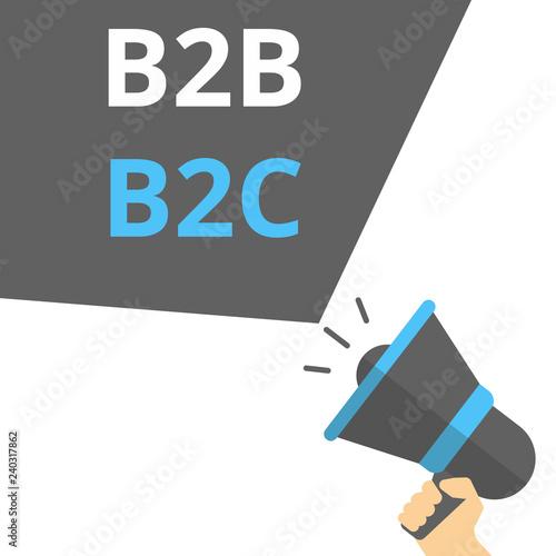 Fotografie, Obraz  Word writing text B2B B2C.