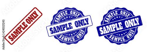 SAMPLE ONLY scratched stamp seals in red and blue colors Tapéta, Fotótapéta