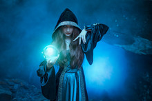 The Witch With Magic Ball In H...