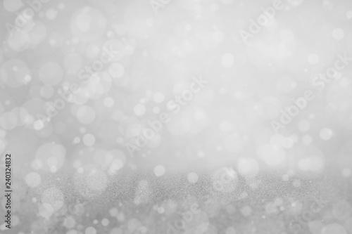 Fototapeta light gray glitter abstract background, abstract glitter lights background, silver bokeh abstract background, Abstract bokeh burred soft tone lights background, wallpaper bokeh blue tone obraz na płótnie