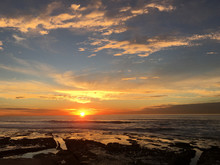 Sunset And Tidepools Over The ...