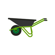 Wheelbarrow Icon. Vector Illus...
