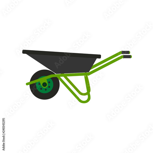 Cuadros en Lienzo  Wheelbarrow icon. Vector illustration. Concept of gardening