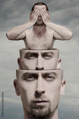 Obraz Surreal portrait of man - fototapety do salonu