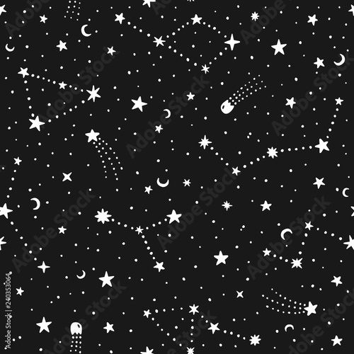 vector-hand-drawn-night-sky-doodle-seamless-pattern-with-space-stars-planets-comets