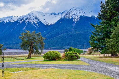 Foto auf Gartenposter Reflexion landscape in the mountains