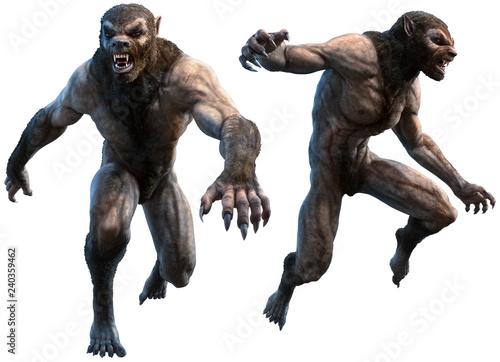 Obraz na plátně Werewolves 3D illustration