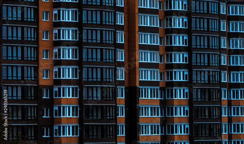 Fototapeta facade of a new house, construction and architecture obraz na płótnie