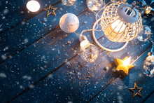 Christmas Lantern With Decorat...