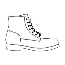 Men Shoes Brogue Trim Platform...