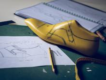 Shoe Last Lying Near Drafts