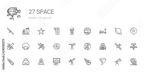 Fotografie, Tablou space icons set