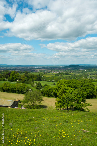 Obraz na plátne Extensive views over the City of Gloucester in the Severn Vale with the Malvern Hills in the distance