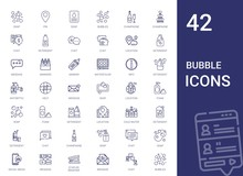 Bubble Icons Set