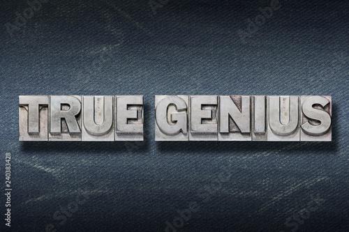 Photo true genius den