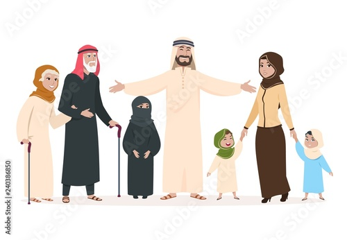 Arab family Fototapeta