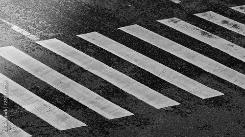 Billede på lærred Crosswalk in Black and white