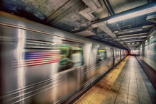 New York Subway Train In Trans...