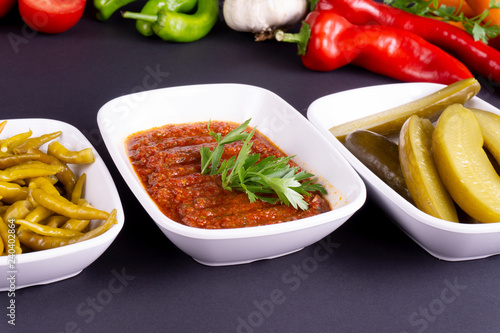 Fotografie, Obraz  spicy appetizer with vegetables