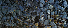 The Wet Rocks And Stone Textur...