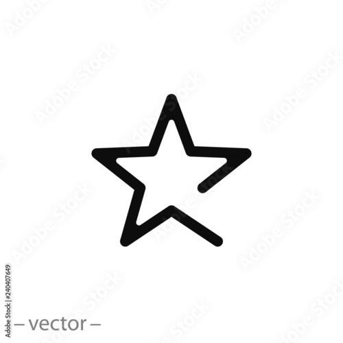 Obraz Star icon vector - fototapety do salonu