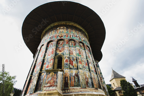 Sucevita painted fortified Monastery in Romania Tablou Canvas