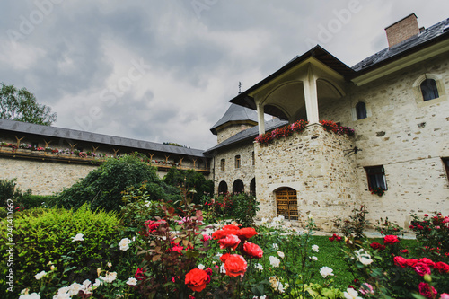 Tablou Canvas Sucevita painted fortified Monastery in Romania