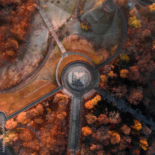 Fotografie, Tablou  Aerial view of the Park of Eternal Glory in Kiev in autumn