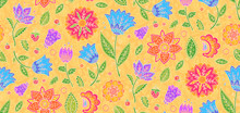 Bright Colors Vintage Textile ...
