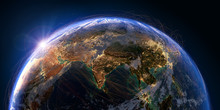 Planet Earth And Aviation Routes. 3D Rendering