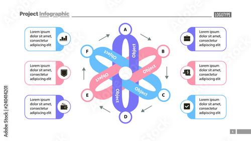 Flower chart slide template design  Element of chart, diagram