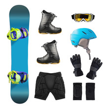 Top View Of Snowboard Equipmen...