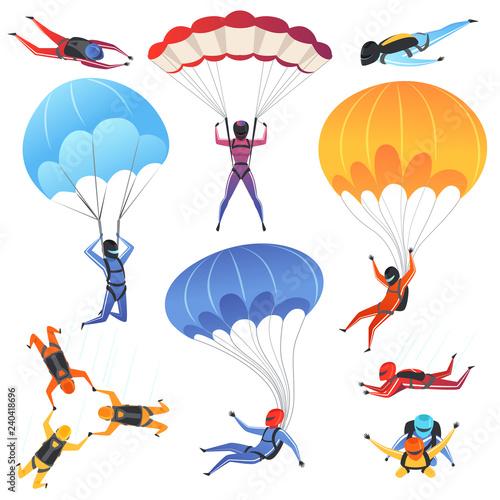 Obraz na plátně Extreme parachute sport