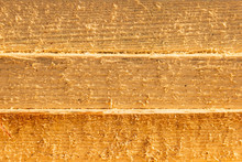 Side Cut Of Sawn Boards, Stack Of Sawn Boards
