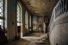 Inside Of Old Creepy Abandoned Mansion