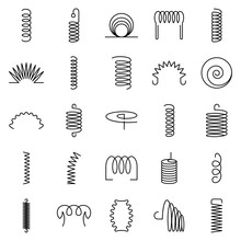 Coil Icon Set. Outline Set Of ...
