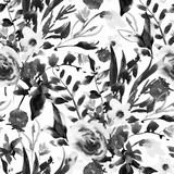 Vintage akwarela kwiatowy wzór z polne kwiaty - 240434653