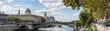 Panoramic of the Tribunal de Commerce, the Conciergerie and Pont Notre Dame on the Ile de la Cite in Paris, France