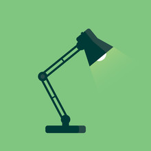 Table Lamp Icon, Flat Design S...