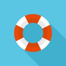 Lifebuoy Icon, Modern Minimal ...
