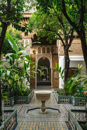 Leinwand Poster Bahia Palace in Marrakech, Morocco