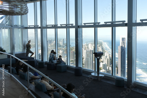 View of Gold Coast from Skypoint