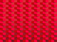 Red Wallpaper With Rectangle Texture. Vector Illustration.