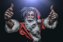 Terrible Robber Dressed As Santa Claus