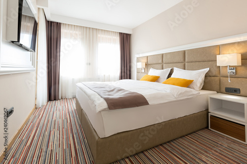 Fototapeta Interior of a luxury hotel bedroom obraz