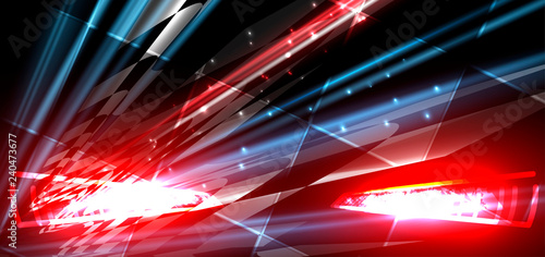 Fotografiet  Racing speed background, vector illustration abstraction in car track