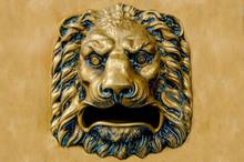Vintage Style Bronze Lion Head
